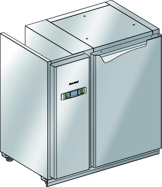 Podstawy chłodnicze z maszynownią z boku - bez agregatu BLC-C.0P