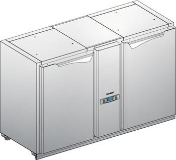 Podsawa chłodnicza z maszynownią centralnie - bez agregatu BLC-0L.C.0P
