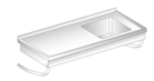 WALL MOUNTED TABLE WITH SINK DM-3270, DM-S-3270