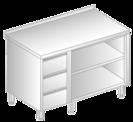 Stół z szafką otwartą i szufladami DM-3129, DM-S-3129