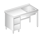 TABLE WITH SINK AND DRAWERS DM-3012, DM-S-3012