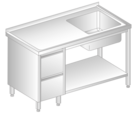 TABLE WITH SINK, DRAWERS AND SHELF DM-3203, DM-S-3203