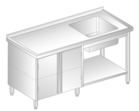TABLE WITH SINK, CUPBOARD AND SHELF DM-3206, DM-S-3206