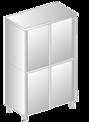 Szafa przelotowa z drzwiami suwanymi DM-3309