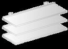 Półka wisząca przestawna DM-3505