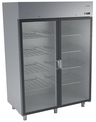 STAINLESS STEEL UPRIGHT REFRIGERATORS WITH GLASS DOORS DM-92109