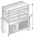 Chilling display unit with chilling vat on closed base DM-94940-Z