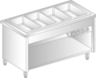 Bain-marie with individual chamber control on closed base DM-94944/4-Z