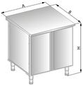 Stanowisko szafkowe neutralne z drzwiami zawiasowymi DM-94517-E