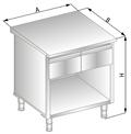 Stanowisko szafkowe z szufladami pod blatem DM-94502-E