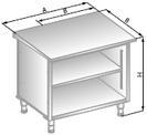 Stanowisko szafkowe narożne 90º wewnętrzne na ostro DM-94538-E